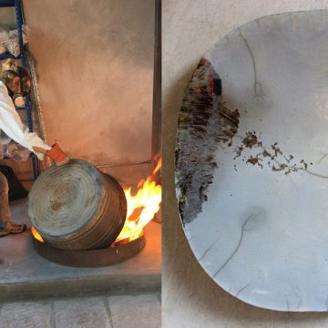 The Show that Almost Wasn't: Raku Platters by Edna Dickinson