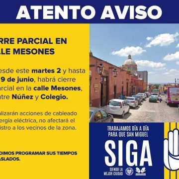 Closing of Calle Mesones