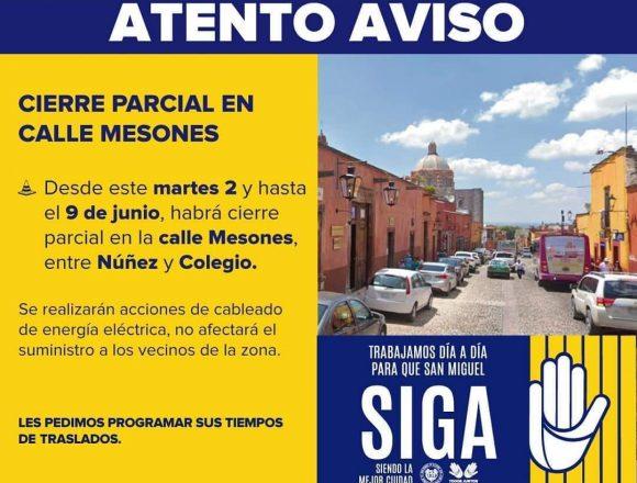 Closing of Calle Mesones