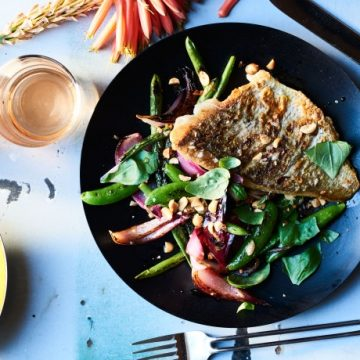 Grilled Snapper with Blistered Bean Salad
