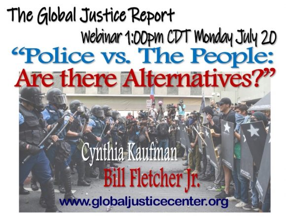 "Webinar:  ""Police vs. The People: Are there Alternatives?"""
