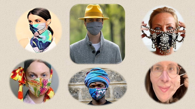 Learning to Live in an Upended World: The Fashionable Side of Masks