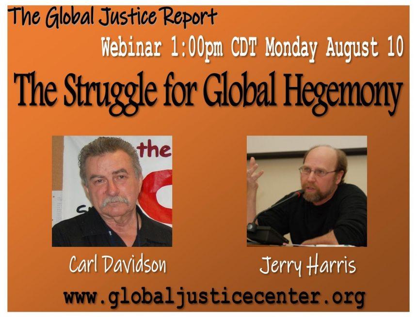 The Struggle over Global Hegemony: Center Of Global Justice