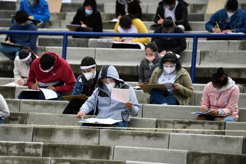 The UNAM Olympic Stadium hosted the 2020-2021 admission exam