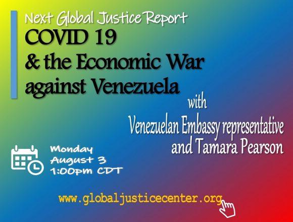 Lecture: COVID-19 and the Economic War against Venezuela