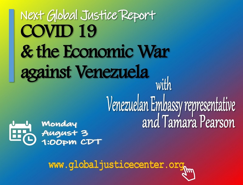 Lecture: COVID-19 and the Economic War against Venezuela