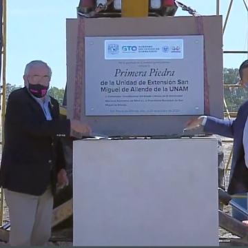 Se coloca la primera piedra de la UNAM San Miguel de Allende