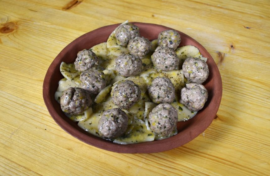 Ancient Roman Pasta with Spiced Meatballs