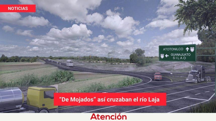 """""""De Mojados"""" así cruzaban el río Laja"""