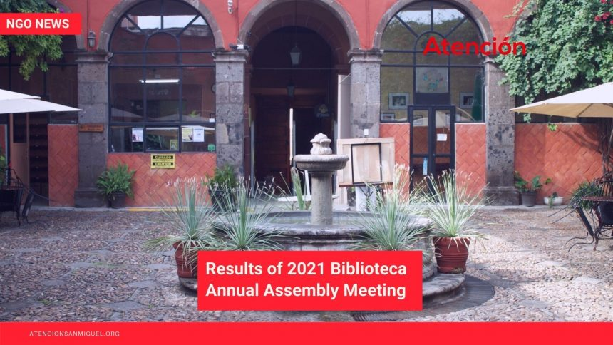 Results of 2021 Biblioteca Annual Assembly Meeting