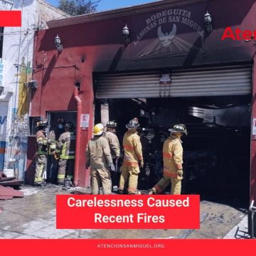 Carelessness Caused Recent Fires