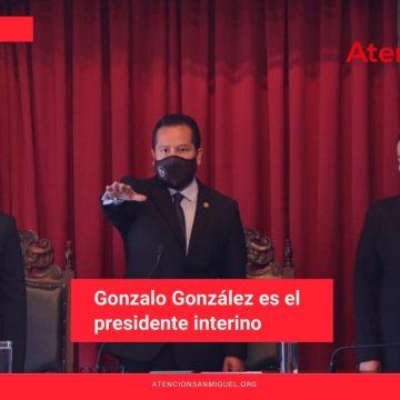 Gonzalo González es el presidente interino