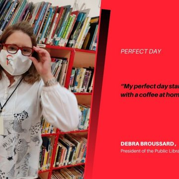 Perfect Day Of Debra Broussard President of the Public Library