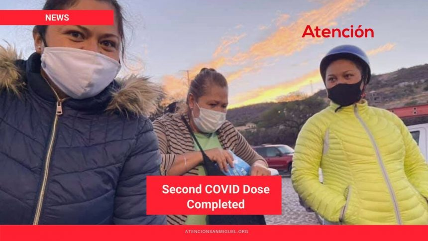 Second COVID Dose Completed