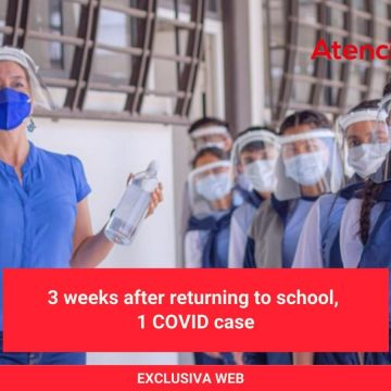 3 weeks after returning to school, 1 COVID case