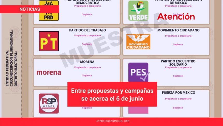 Entre propuestas y campañas se acerca el 6 de junio