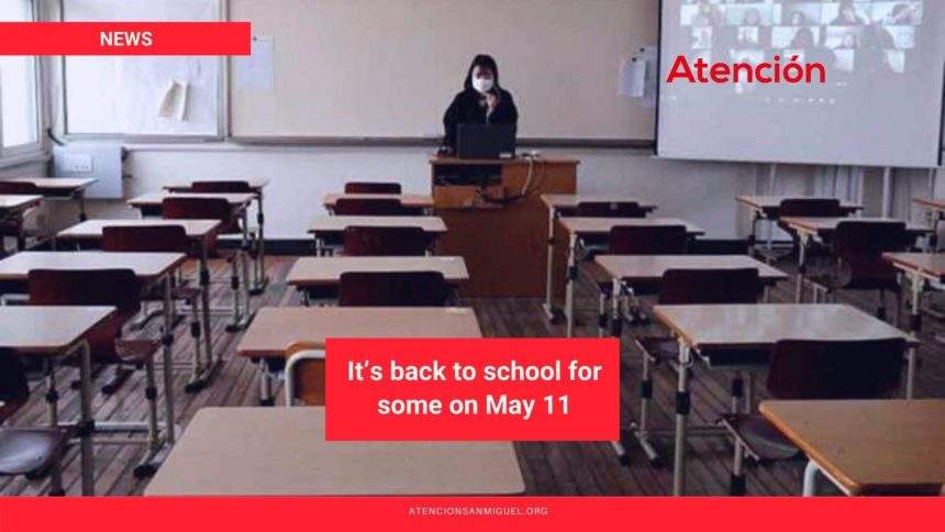 It's back to school for some on May 11