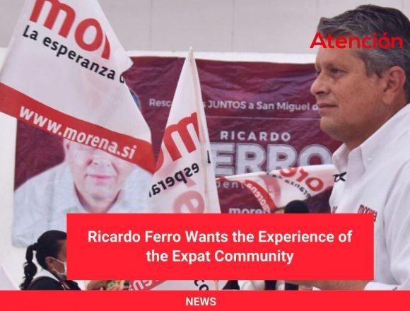 Ricardo Ferro Wants the Experience of the Expat Community
