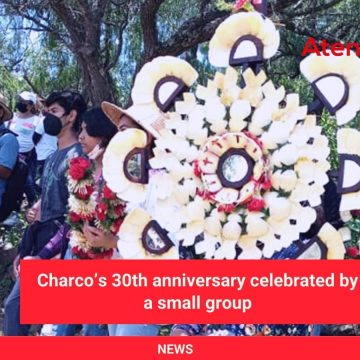 Charco's 30th anniversary celebrated by a small group