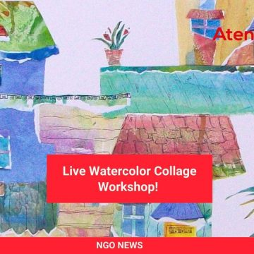 Live Watercolor Collage Workshop!