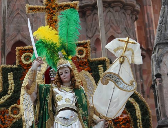 The Archangel San Miguel will appear in a procession